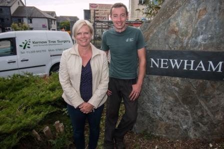 Alison Elvey, Newham BID manager, and Andrew Bastiani, owner of Kernow Tree Surgery