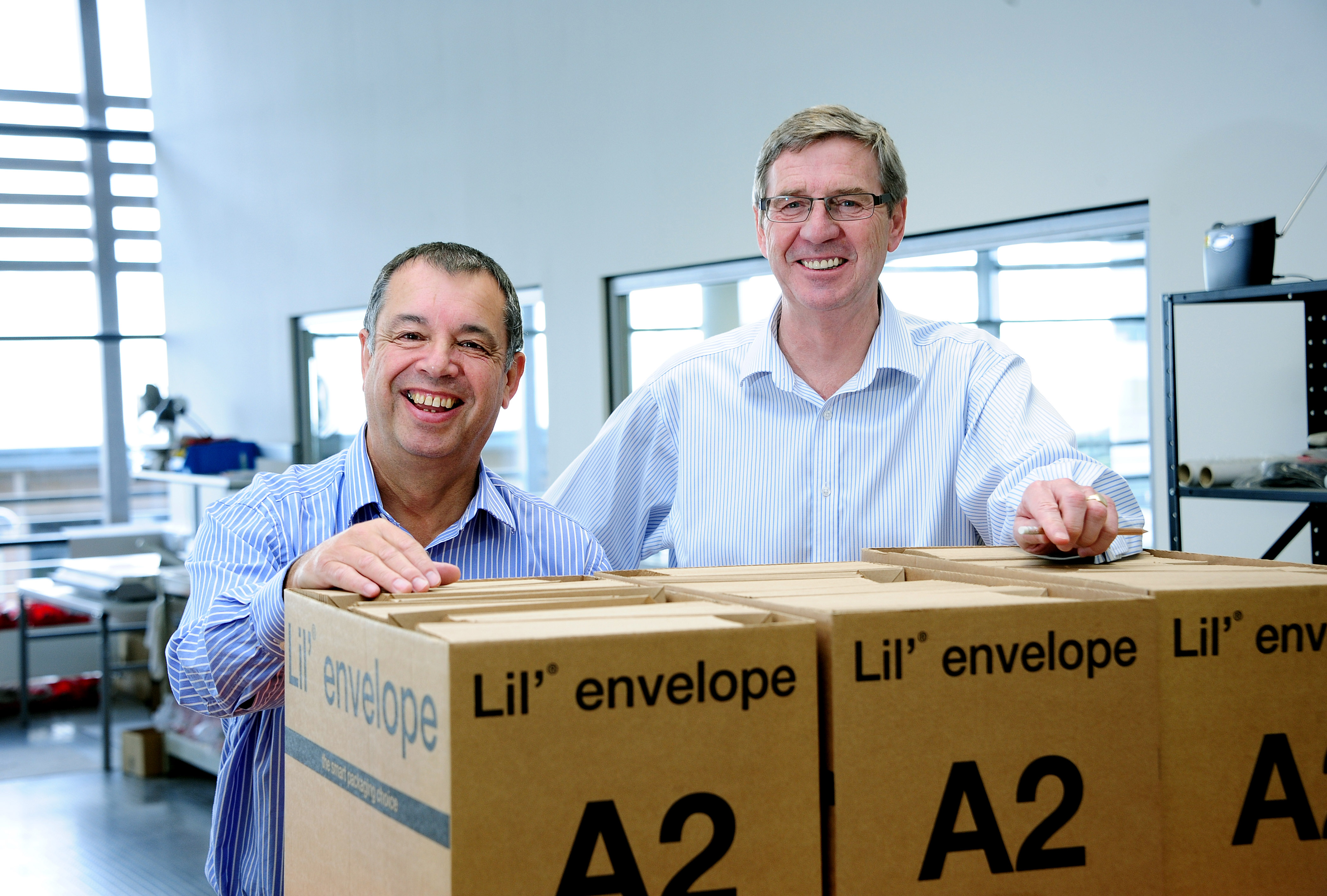 Nick Keat (left) from St Austell Mailing with Peter Moody from St Austell Printing Company