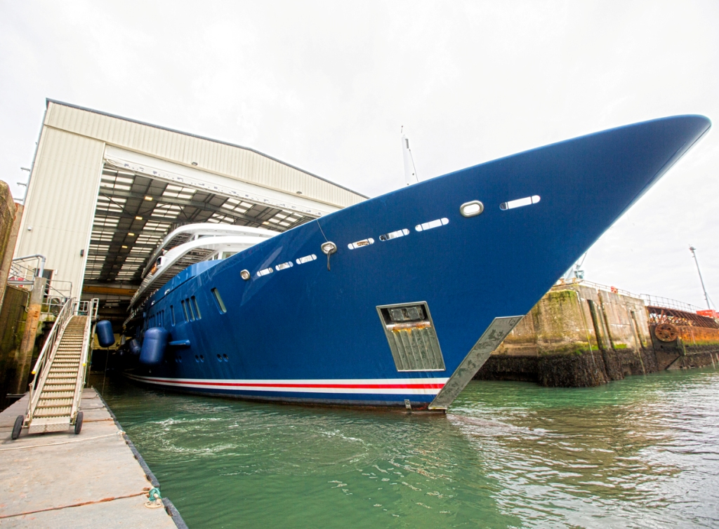 Northern Star docks at Pendennis in readiness for her refit