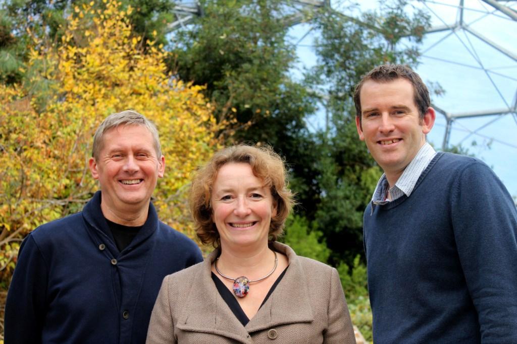 L-R: Eden executive director, Peter Stewart; Good Energy founder, Juliet Davenport; Eden executive director, David Harland