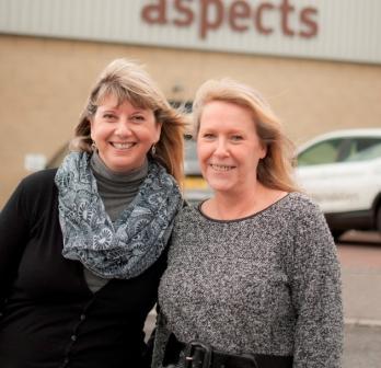 Mandy Stinchcombe (l) and Wendy Mitchell