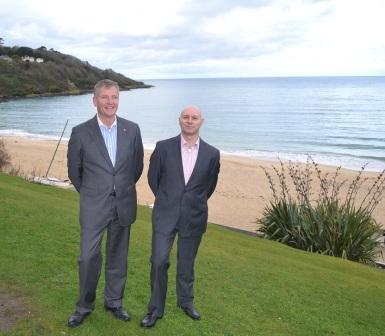 Stephen Baker (l) and David Sharland