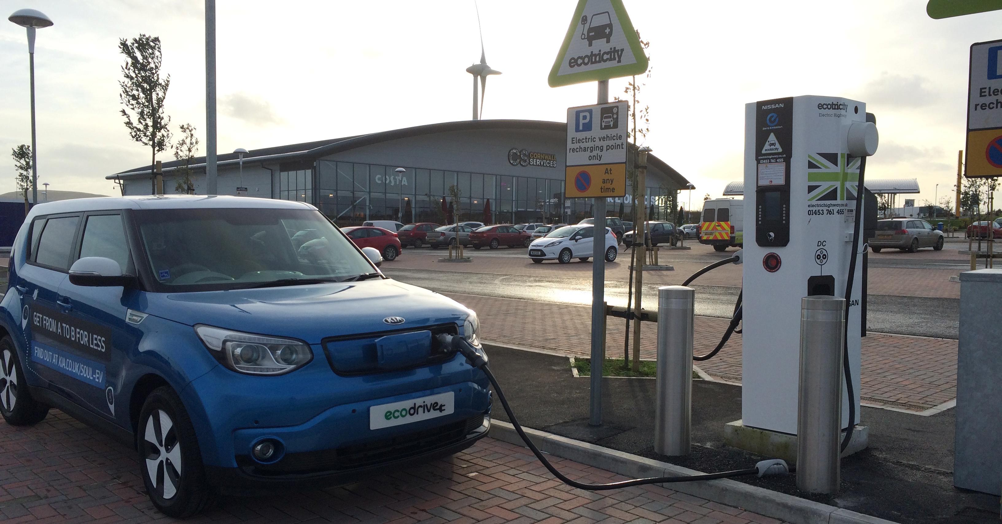 The Quick Charger for Electric Vehicles at Victoria Services