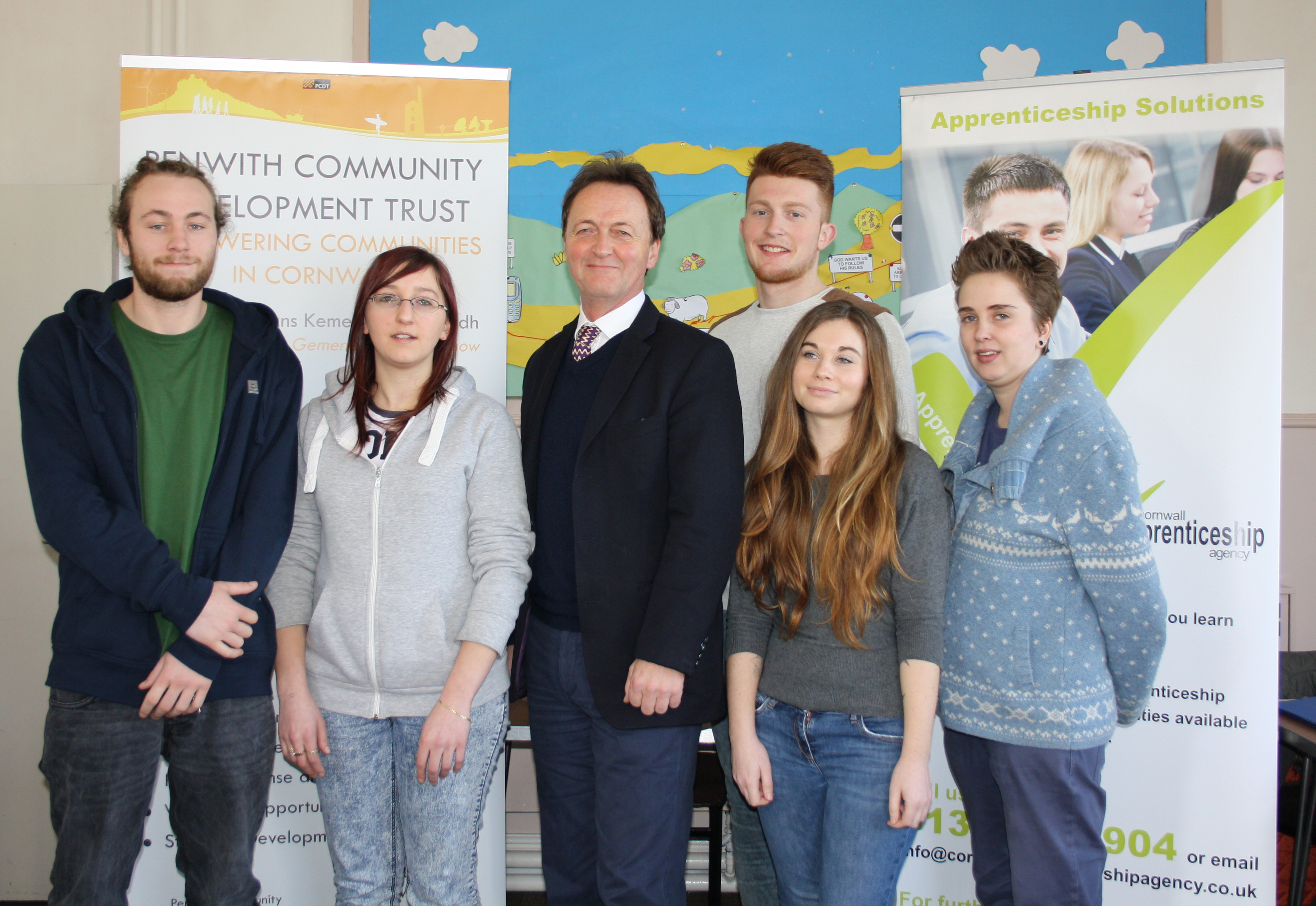 Andrew George MP and Youth Work apprentices