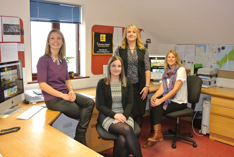 Cornish Gems team LR: Nadia Macer-Wright, managing co-director; Lucy Ashton, sales administrator; Julianne Shelton, managing co-director; Jen Morgan, senior sales consultant