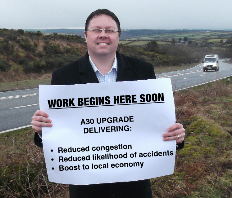 Dan Rogerson MP has welcomed the news that work on the A30 is starting soon
