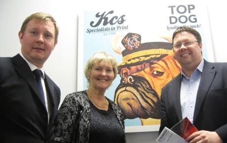 Terrye Teverson with Daniel Godden (l) and MP Dan Rogerson (r)