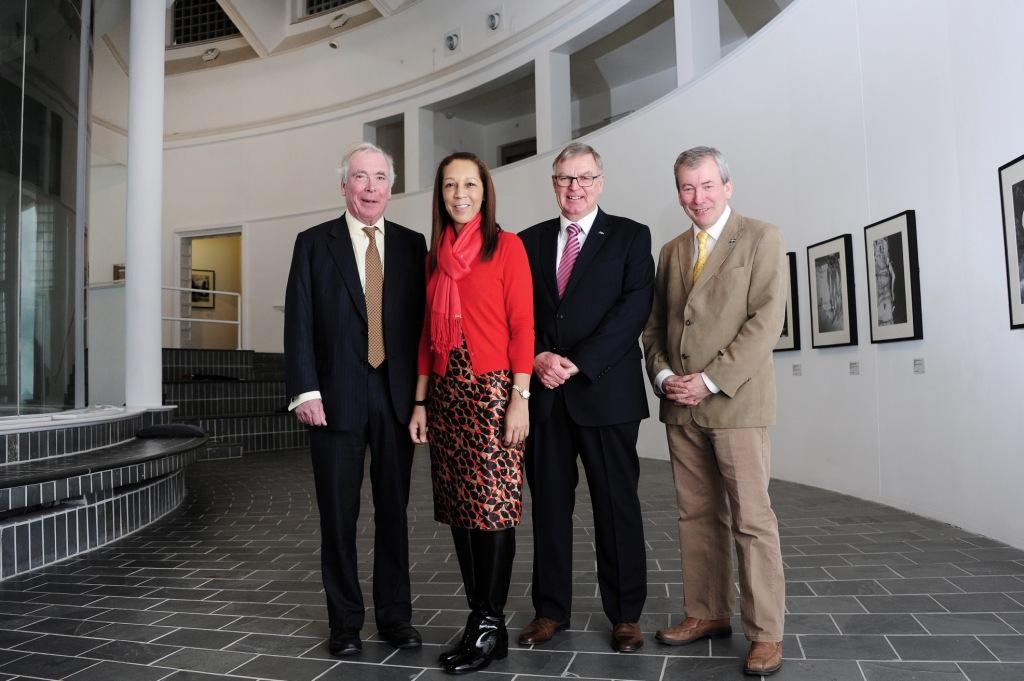 L-R:  Lord St Levan (Chair of the Visit Cornwall Partnership), Helen Grant (Minister for Tourism), John Pollard (Cornwall Council), Malcolm Bell, head of Visit Cornwall