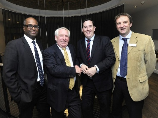 L-R - Don McLaverty - MD Oxford Innovation Services; Chris Pomfret - Chair Cornwall and IoS LEP; Stafford Sumner - MD of Coaching for High Growth client Jarrang; Andrew Farmer - Programme Director Oxford Innovation