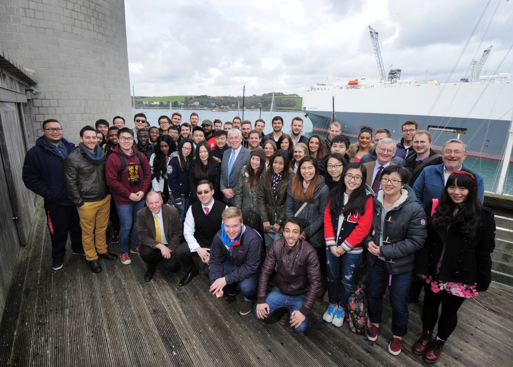 Plymouth University staff and Maritime Business Master's Degree students join Falmouth Harbour Commissioners for an afternoon at the National Maritime Museum Cornwall