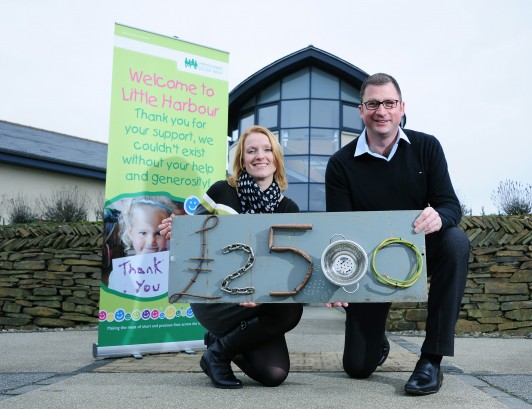 Children's Hospice South West's Sarah Stott and Henry Orchard