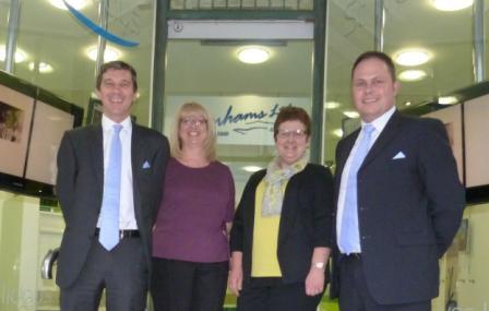 L-R: John Waldie, Jo Allen, Sally Endean and mortgage advisor Andrew Waterhouse