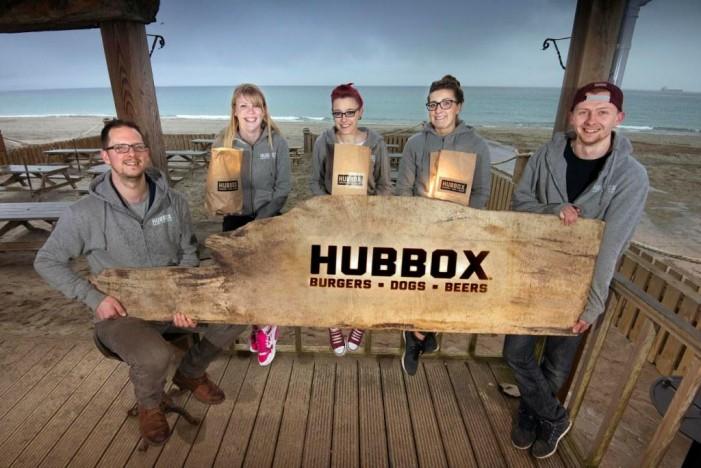 Hubbox on the beach