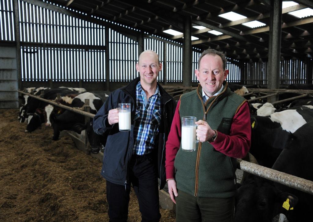 Dairy farmer Matthew Rowe (l) with Stephens Scown managing partner, Phil Reed
