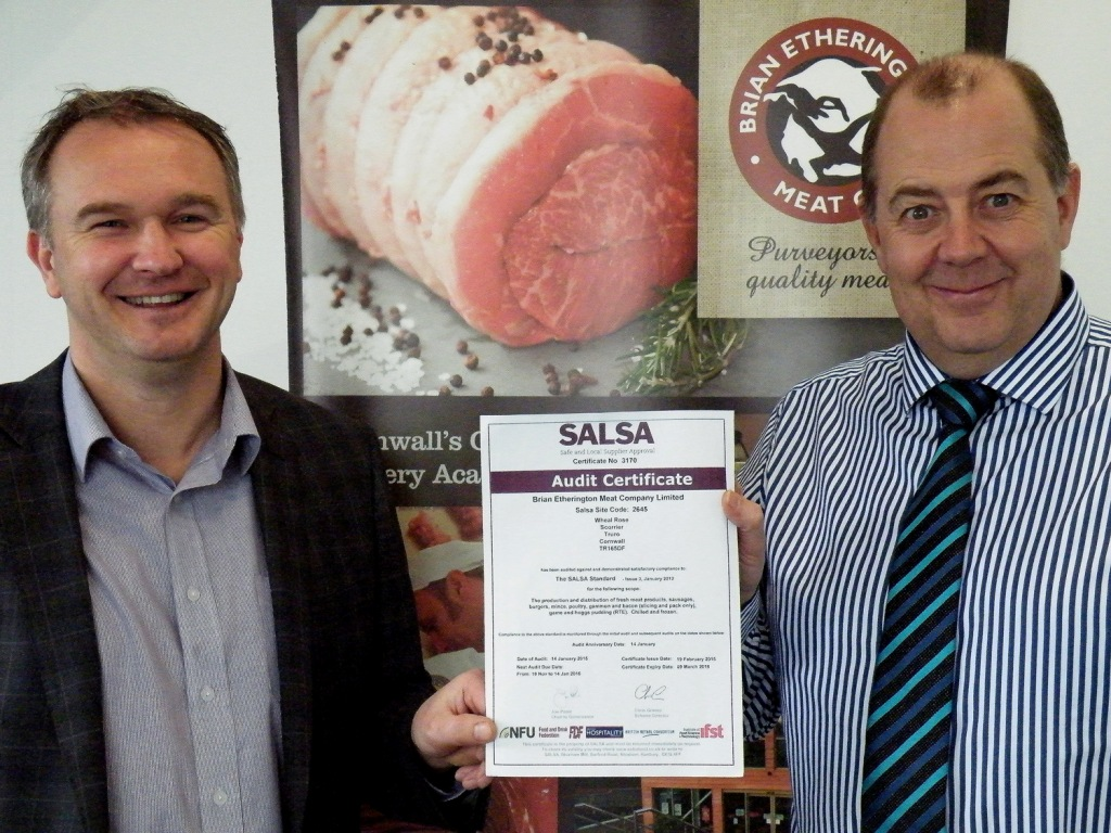 MD Mark Etherington (l) with operations manager Andy Hill