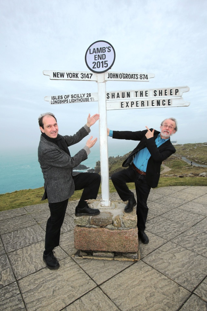 Aardman founders David Sproxton CBE )l) and Peter Lord CBE at Lamb's End