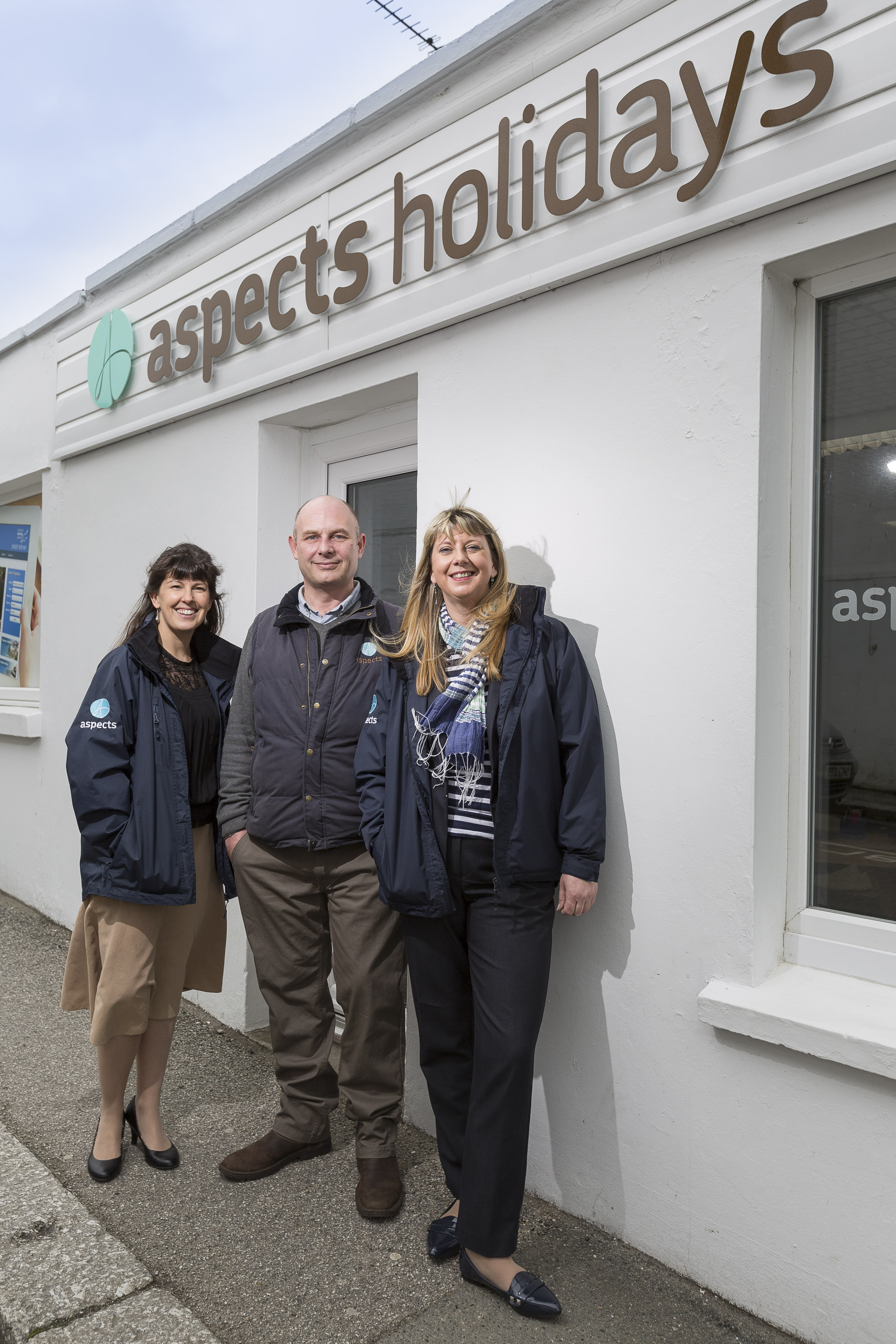 L-R: Tammy Netting, Sebastian Blakemore and Mandy Stinchcombe at the new Newquay office