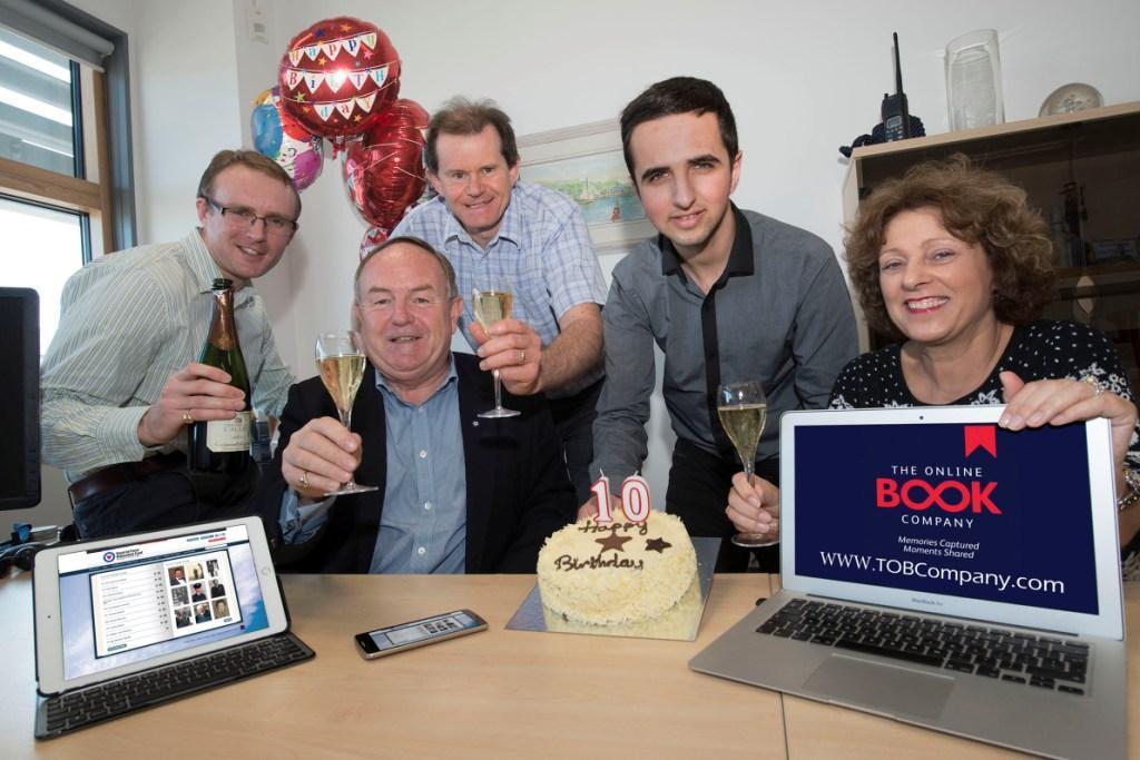 The Online Book Company team (l-r): Harry Haward, Jonathan Haward, Tim Cooke, Kamil Jabarkhel & Julie Pentecost