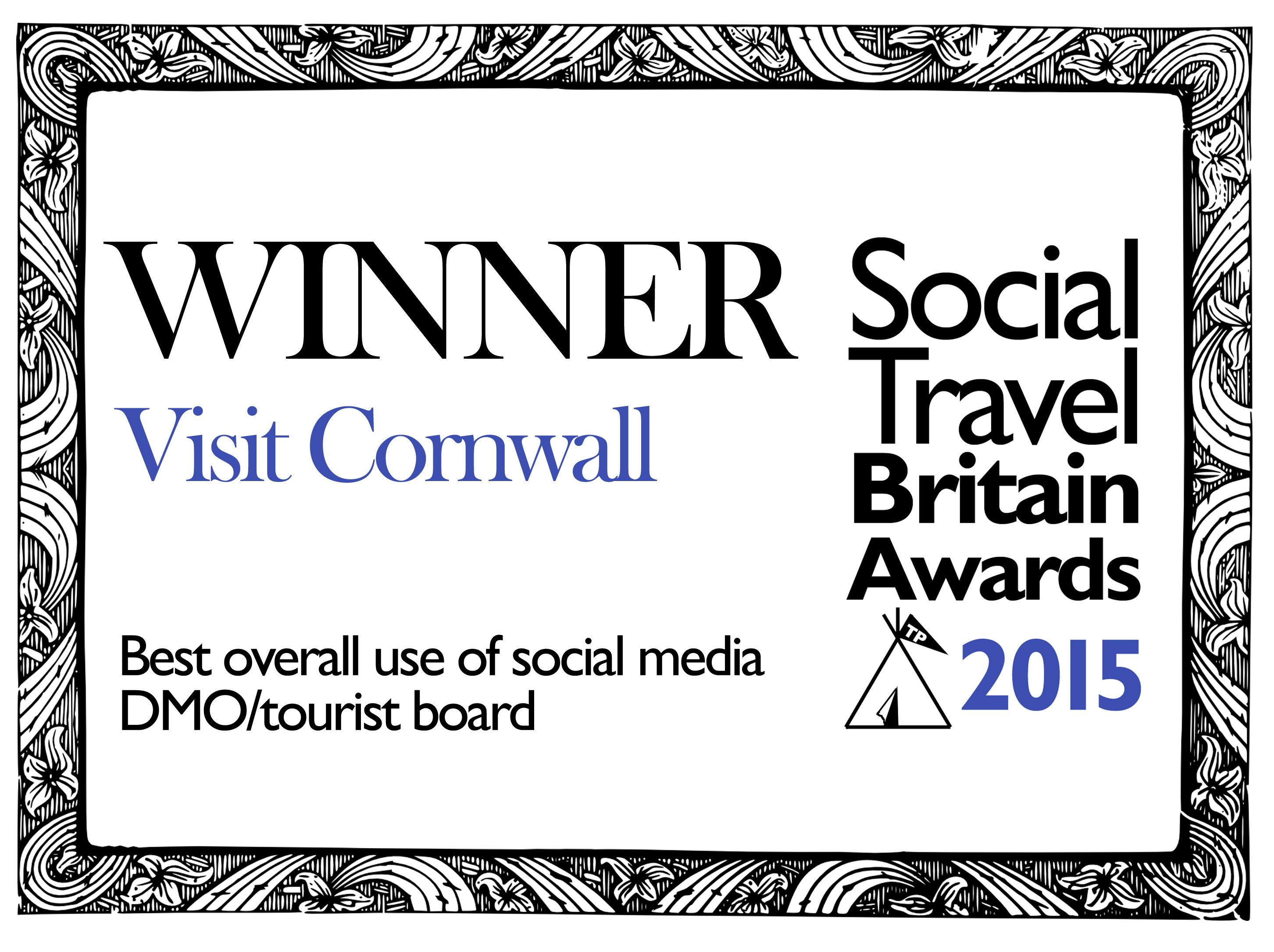 Social Travel Britain Awards badge