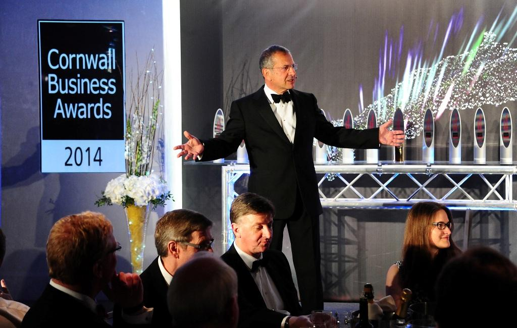 Gerald Ratner at last year's Cornwall Business Awards