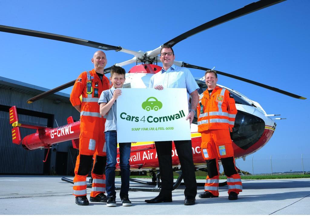 Mick McLachlan, (Paramedic, Cornwall Air Ambulance), William Orchard, Henry Orchard, Stuart Croft (Paramedic, Cornwall Air Ambulance)