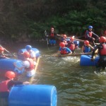 BF Adventures raft building