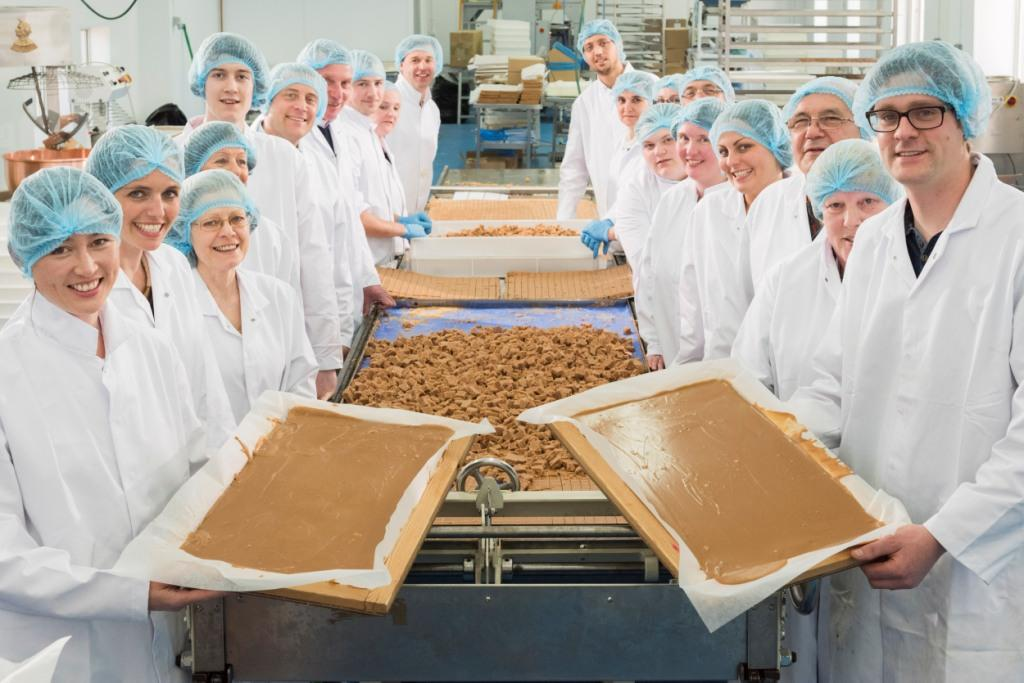 The team at The Buttermilk Confectionery, including owners Tracy (front left) and David (front right) Goad