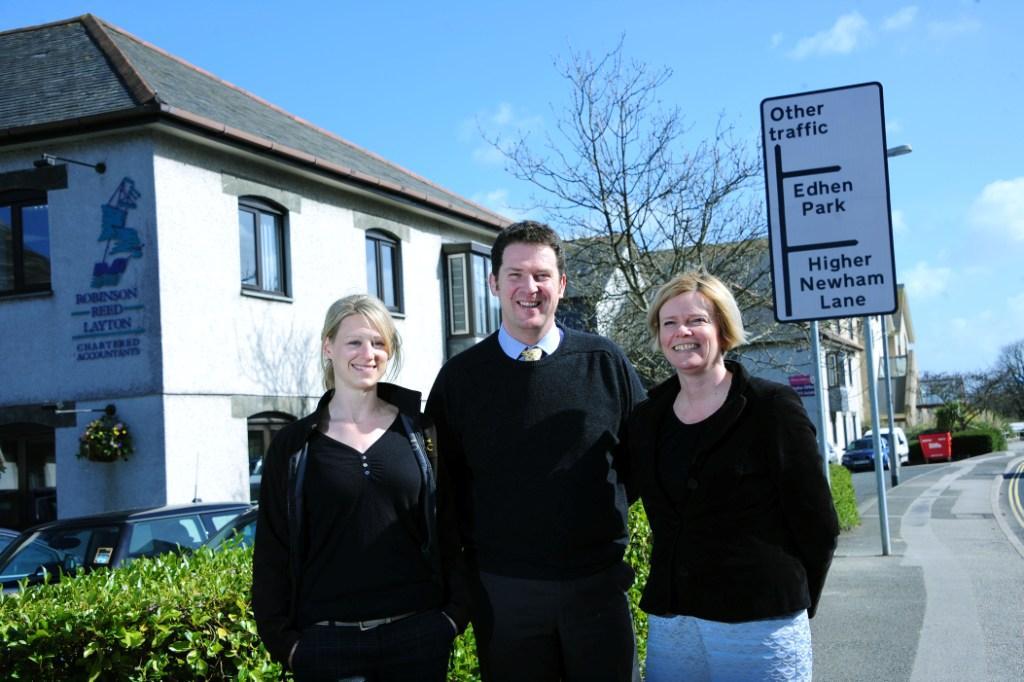 L-R: Rachael Tatlow , Alan Treloar and Alison Elvey