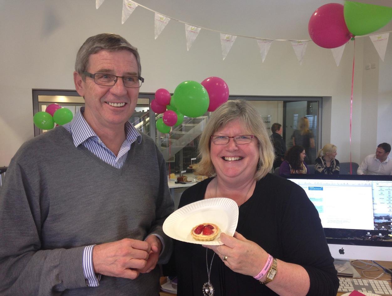 SAPC managing director, Peter Moody, with Judy Lawton