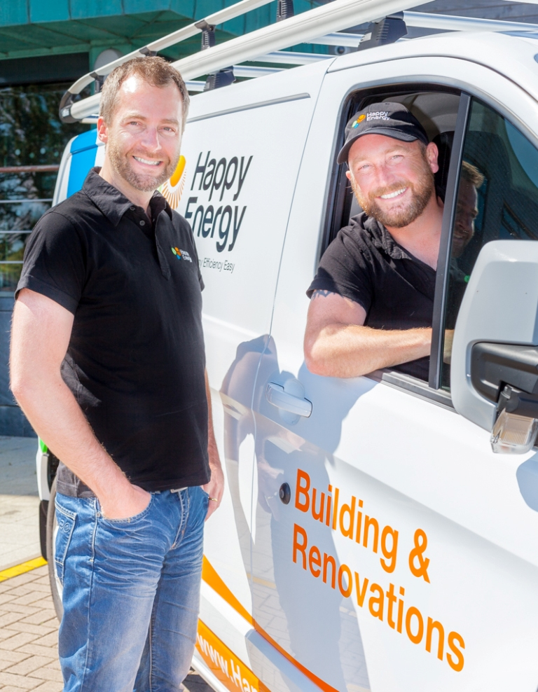 Happy Energy CEO, Adrian Wright (l) and James Dormer
