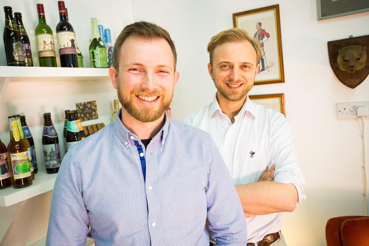 Kingdom & Sparrow's Johnny Paton (l) and Daniel Gradwell, Exciting Future Award winners