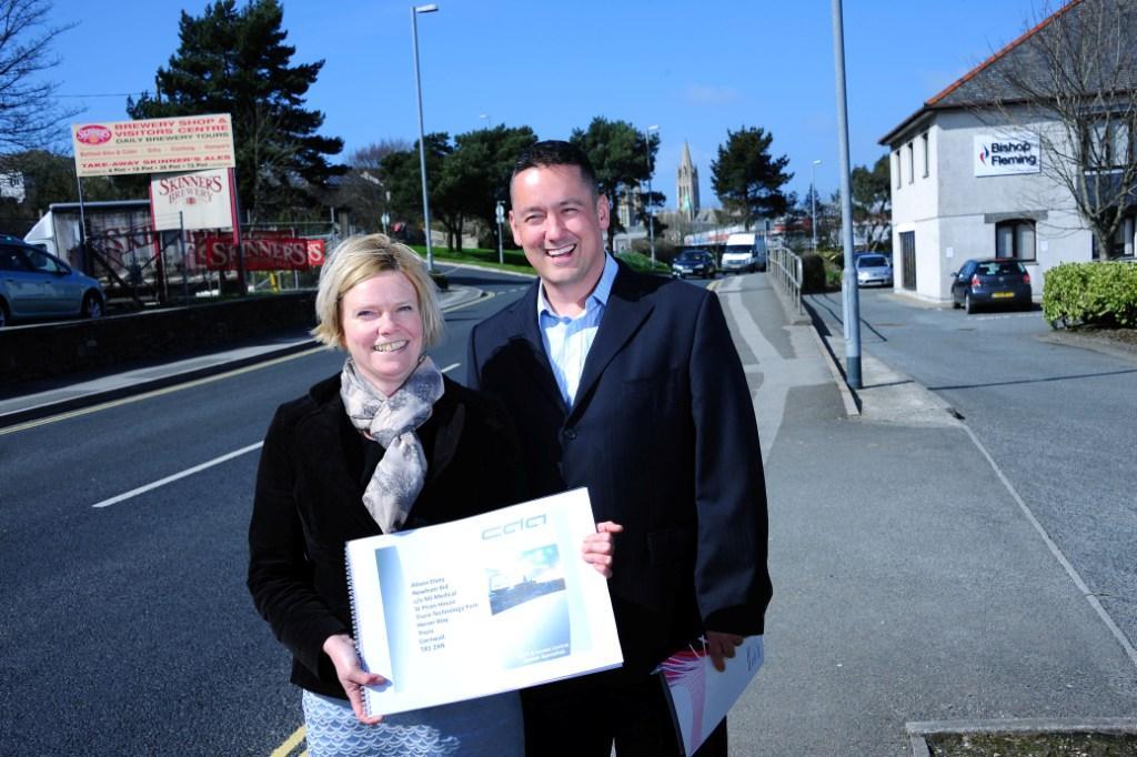 Newham BID manager Alison Elvey with CDA's Andy Watson