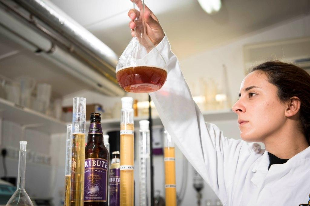 Liliana Matos is the newest member of the team at the St Austell Brewery laboratory