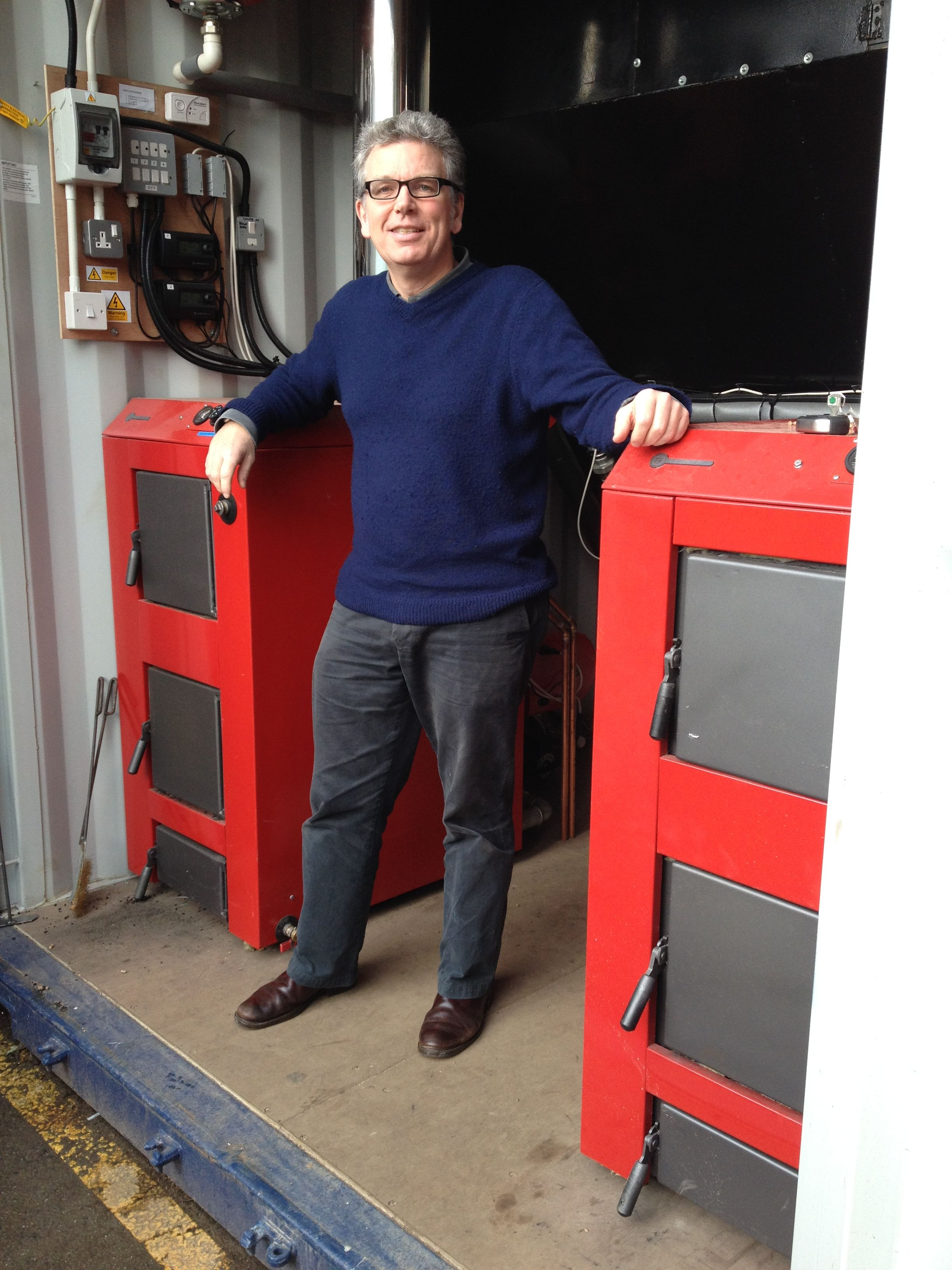 Martin Barlow and the biomass boilers