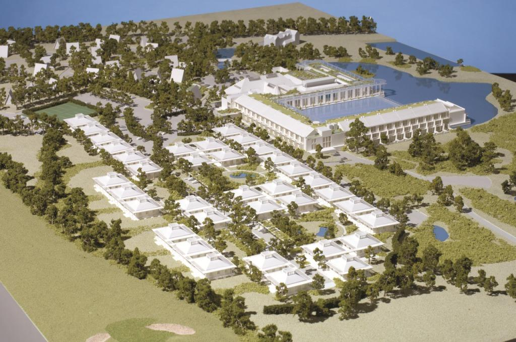 An artist's impression on how the new Waterside Luxury Village Cornwall will look