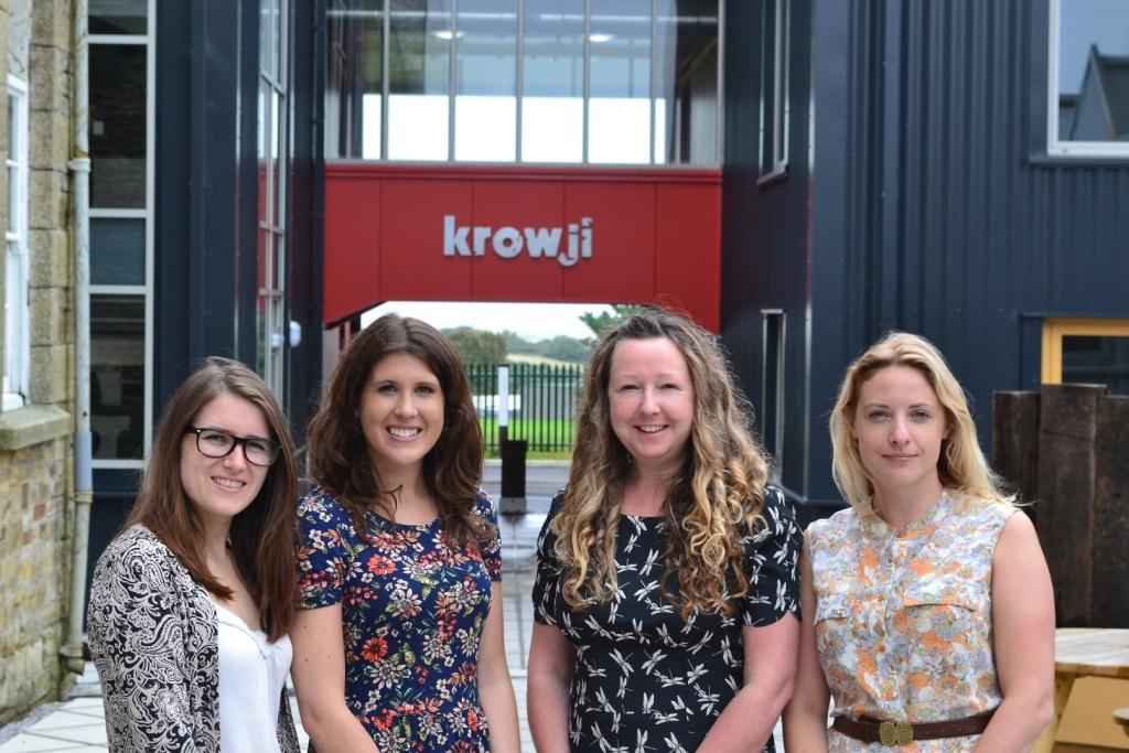 The Eventy team (l-r): Rebecca Waterfield, Lauren Brokenshire, Helen Mulhern and Lucy Cornes.