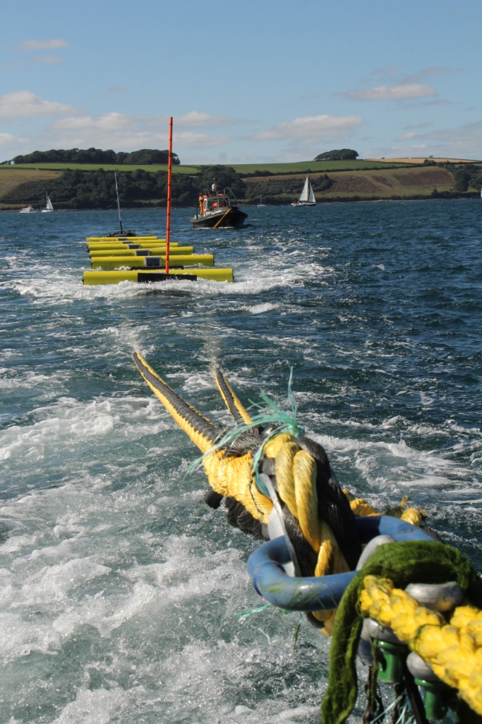 Deployment of Polygen's wave energy device called Volta at the testing site