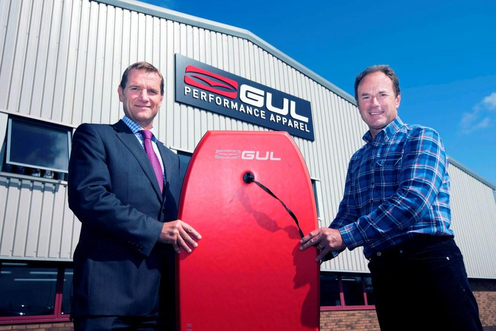 L-R: Lloyds Bank relationship manager, Bruce Pedrick, with Gul MD, Mike Flavelle