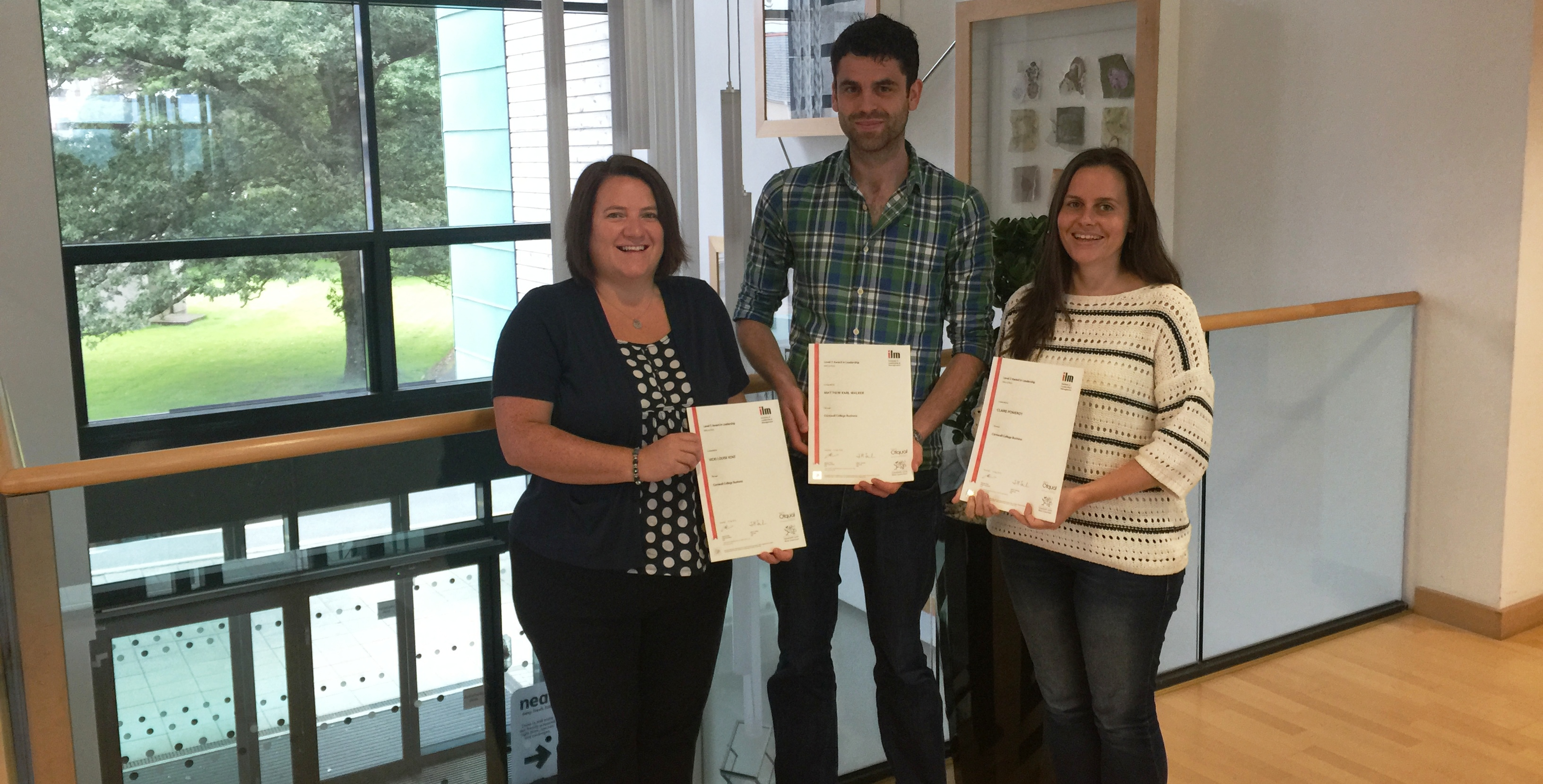 l-r: Vicki Kent (operations manager), Matthew Walker, Claire Pomeroy (regulatory affairs managers)