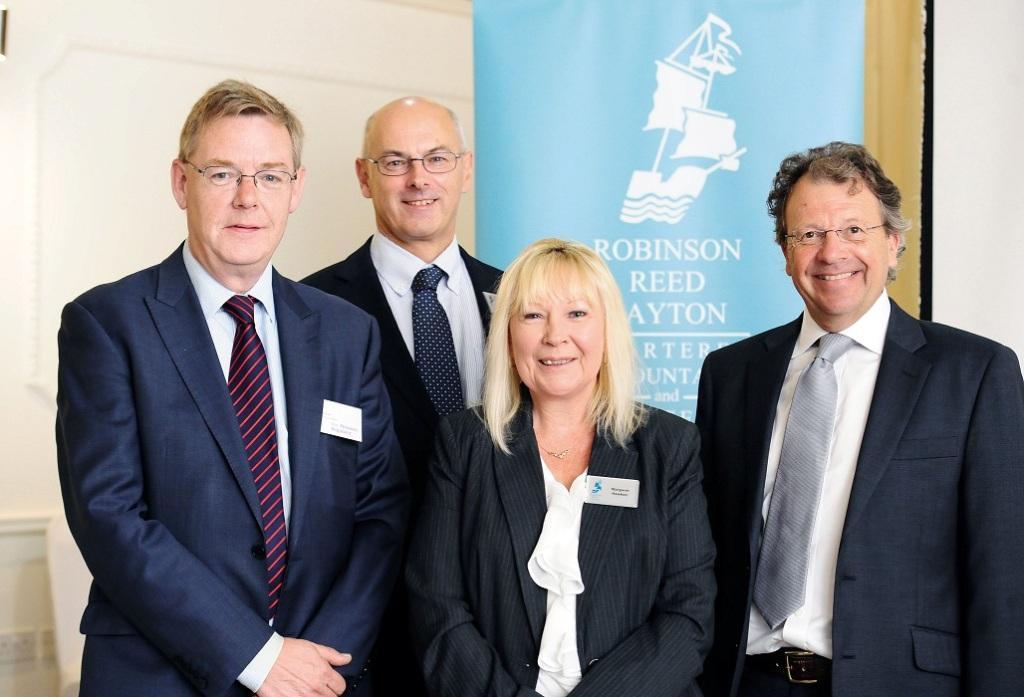 (L-R): Speakers Stephen Rowntree, Stephen Gainey, Margaret Hawken and Stephen Watson