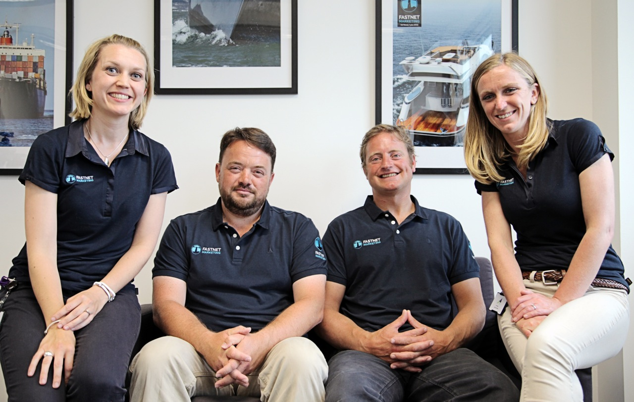 L-R: Office/project Manager, Audrey Stevens; web developer, Austen Osborn; commercial director, Alex Head and MD, Sarah Leverton