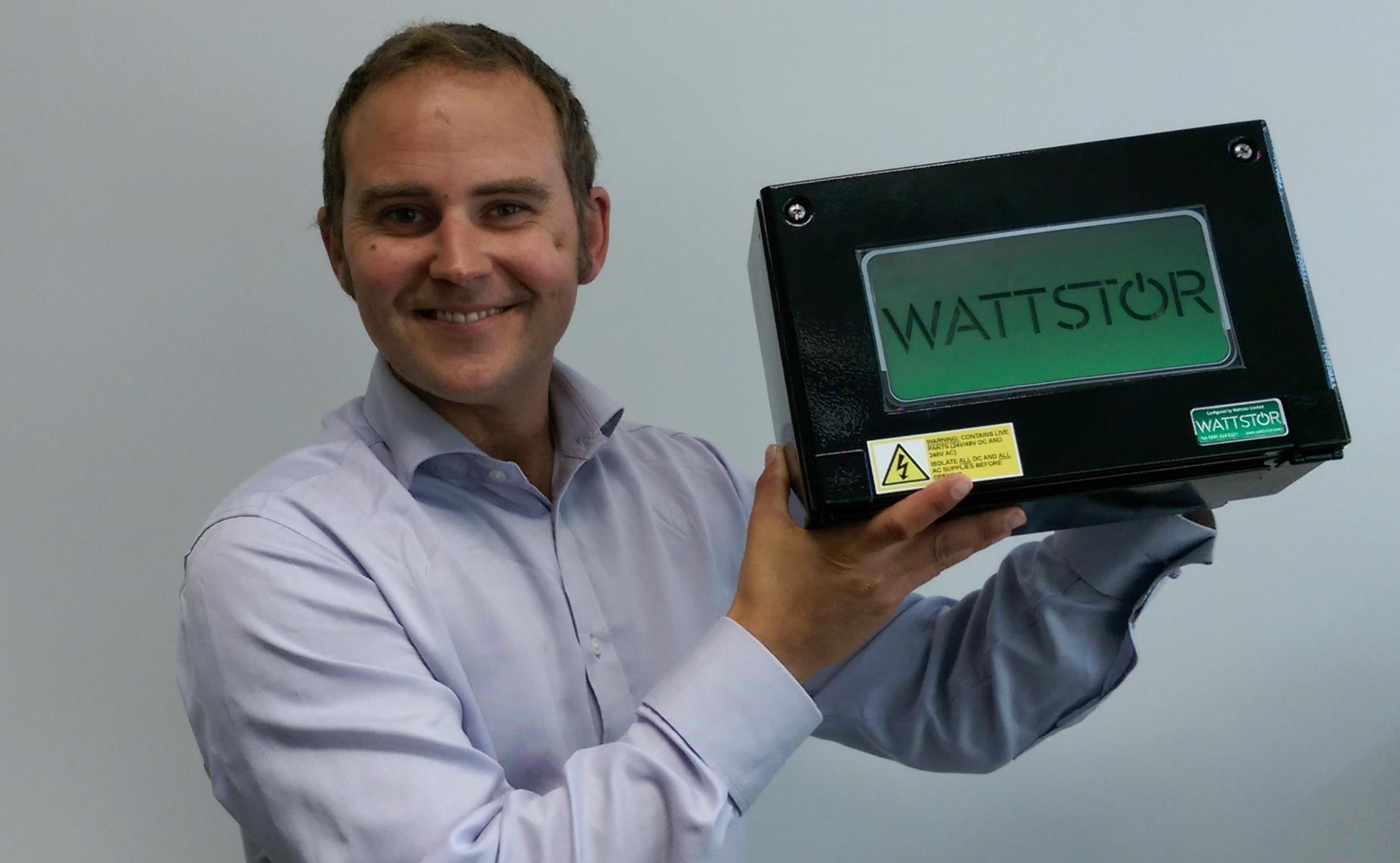 Wattstor's MD, Mark Smith, with his company's export-limiting smart switch