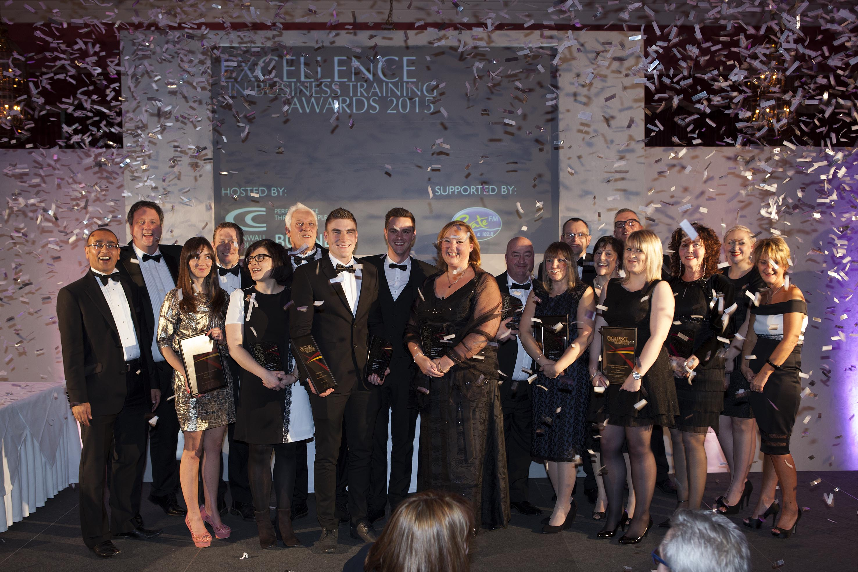 Winners of last year's Excellence in Business Training Awards