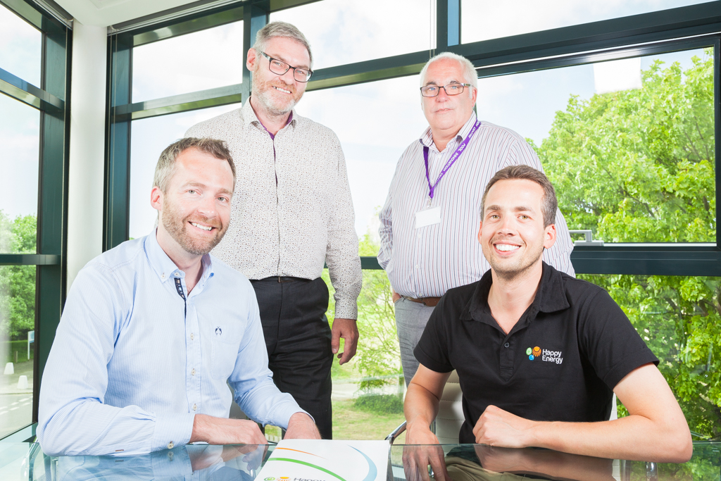 L-R: Happy Energy CEO Adrian Wright with three of the five new directors Paul Carten, Shaun Williams and John Moores
