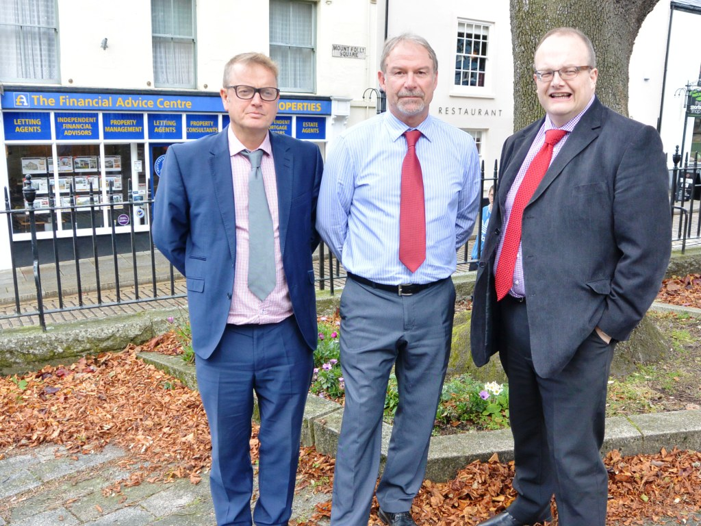 L-R: Neil Swann, Ken Cook and MD, Andrew Harvey