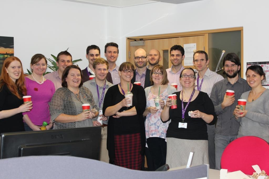 IIP Celebration tea break the team