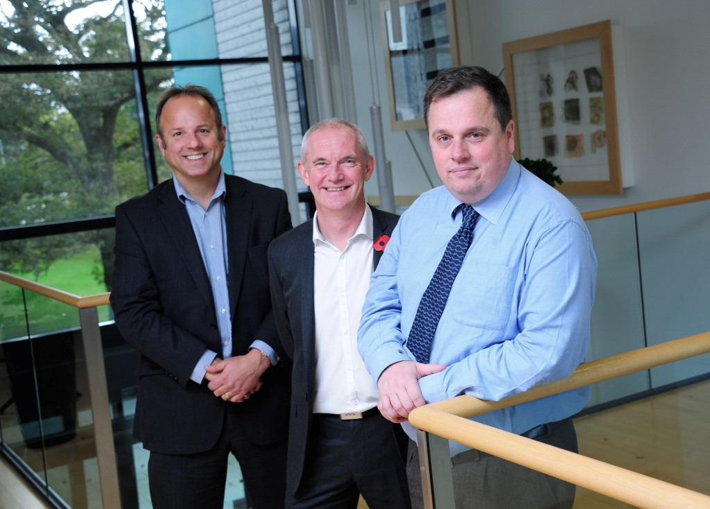 L-R: John Peters (SWIG Finance), Bernard Curren (Cornwall Innovation), Mark Jennings (n-Coders)