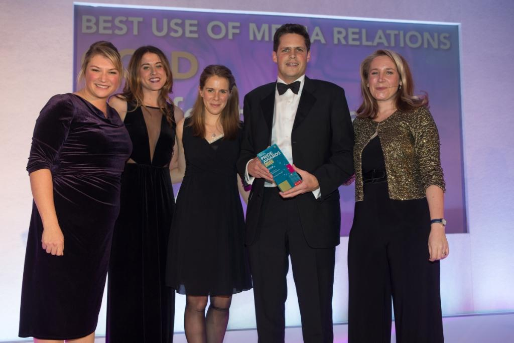 Barefoot Media collects the Best Use of Media Relations Award