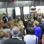 Samphire Club founder John Harvey welcomes guests