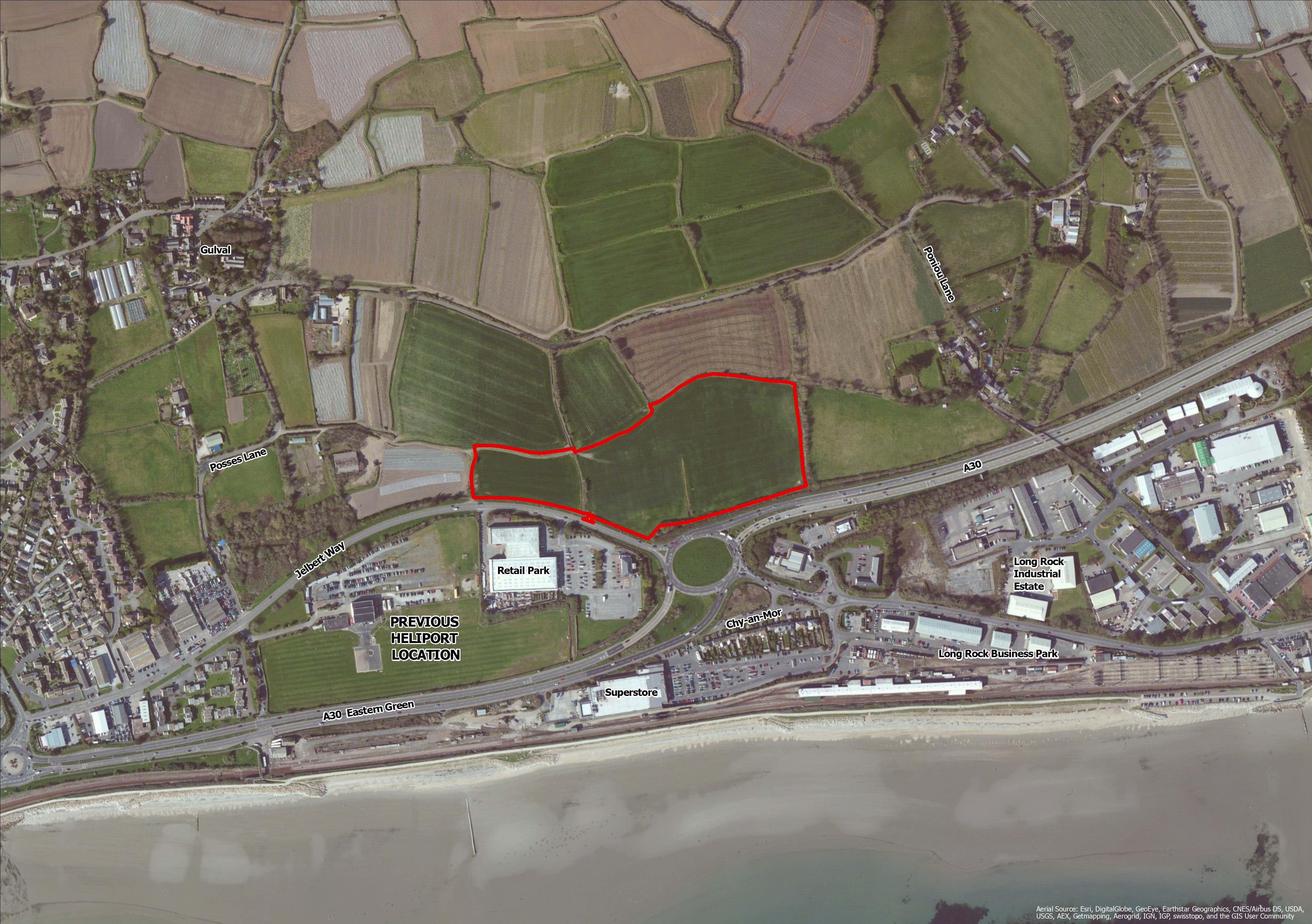 Penzance Heliport proposed site